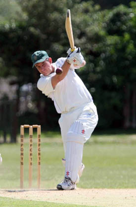 Abingdons Ed Tilley against Tiddington